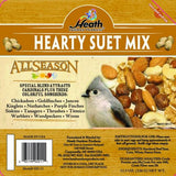 Hearty Suet Mix Suet Cake - 11.5 oz - Pack of 12 - Heathoutdoors