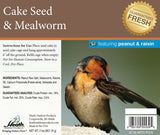 Mealworm Seed Cake with Peanut & Raisin - 2 lb - 8 pack - Heathoutdoors