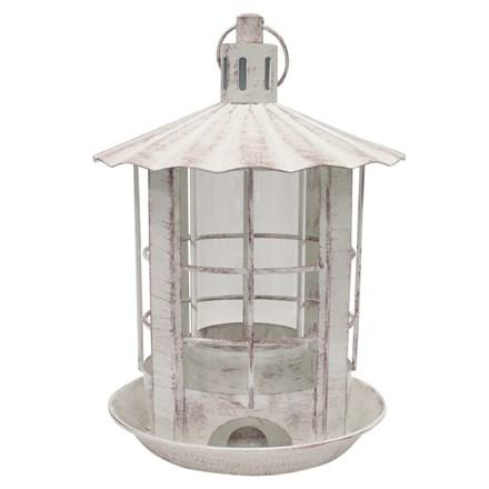 Parkview Bird Feeder - Antique White - Heathoutdoors