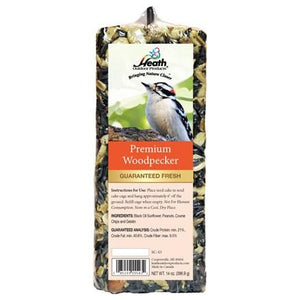 Premium Woodpecker Seed Cake - 14 oz Bar - Pack of 6 - Heathoutdoors