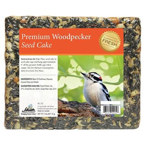 Premium Woodpecker Seed Cake - 2 lb - 8 pack - Heathoutdoors