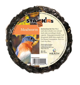 Stack'Ms - Mealworm Seed Cake - 6.5 oz - Pack of 6 - Heathoutdoors