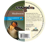 Stack'Ms - Mealworm with Peanut & Raisin Seed Cake - 6.5 oz - Pack of 6 - Heathoutdoors