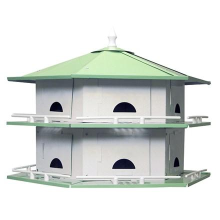 Starling Resistant Convertible Aluminum Purple Martin House - 12 Room - Heathoutdoors