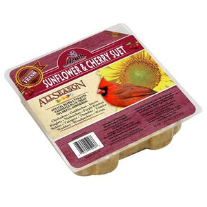 Sunflower & Cherry Suet Cake - 10 oz - Pack of 12 - Heathoutdoors