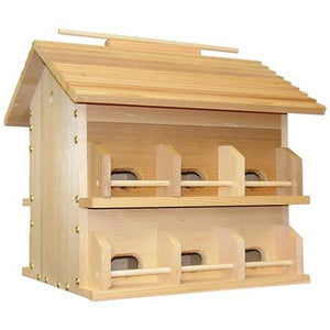Wood Starling Resistant Purple Martin House - Heathoutdoors