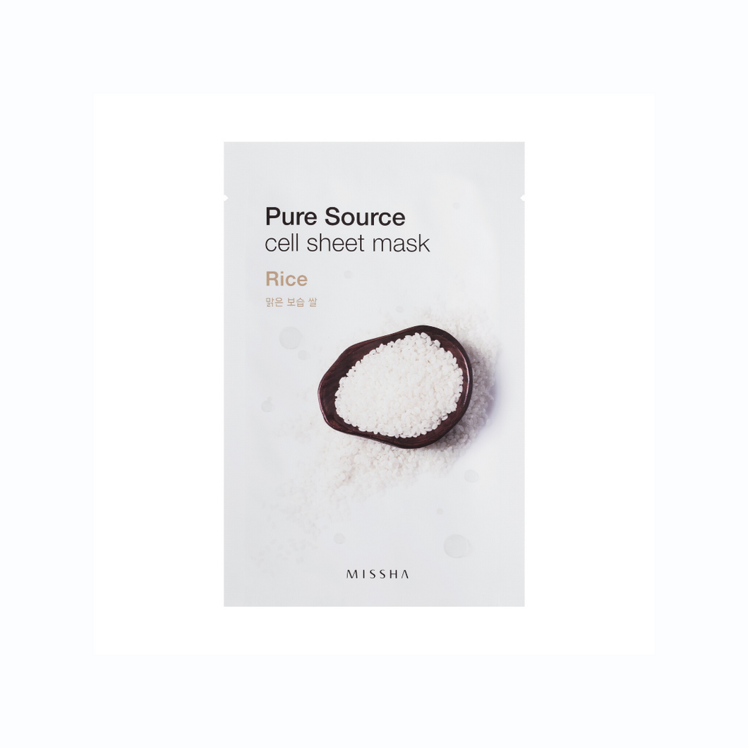 Pure Source Cell Sheet Mask Rice