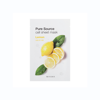 Pure Source Cell Sheet Mask Lemon