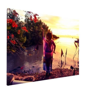 Dancing in the sunset at The Temple In the Sea Wall Art