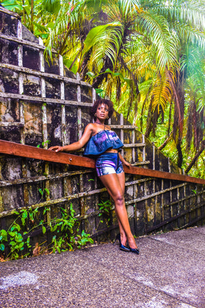 Macqueripe Bay Flair Crop Top