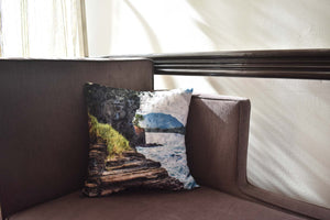 The view from 'The Rock' at Fort Abercromby Throw Pillow Cover
