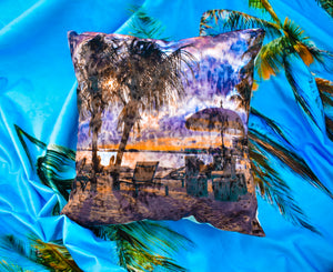 Sunset at Mambo Beach Curacao Throw Pillow Cover