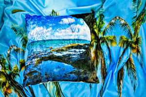 Smuggler's Cove St. Lucia Throw Pillow Cover