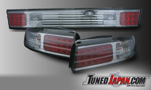 D-MAX CRYSTAL LED REAR TAIL LIGHT SET SMOKE- S14