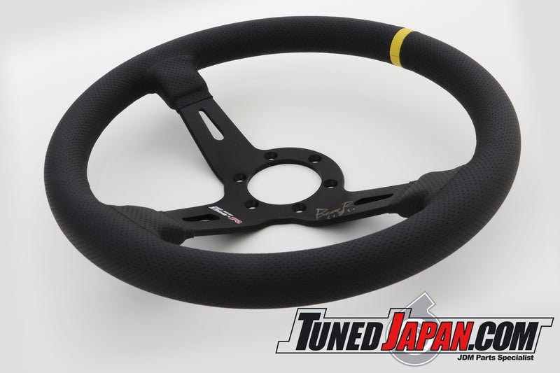 BEE*R STEERING WHEEL - 330mm - SLIGHTLY DEEP - AUTOGRAPHED BY IMAI-SAN HIMSELF