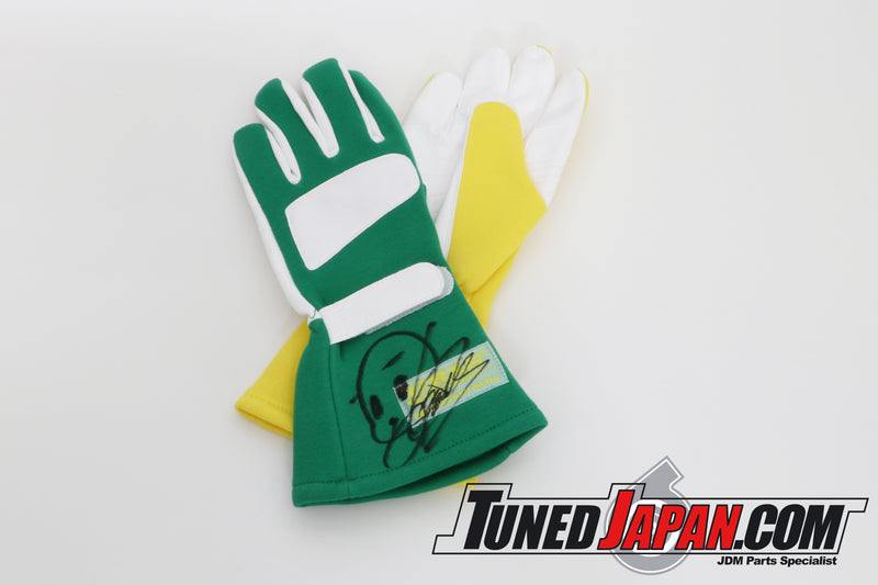 URAS RACING GLOVES | YELLOW・GREEN MIX | MEDIUM