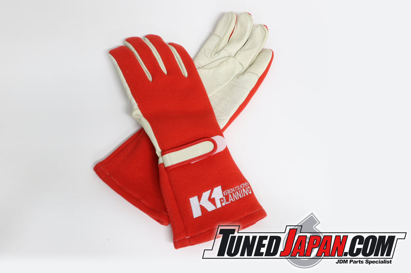 K1 PLANNING RACING GLOVES - RED LARGE