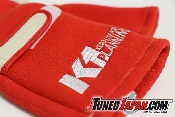 K1 PLANNING RACING GLOVES - RED - SIZES M ~ L