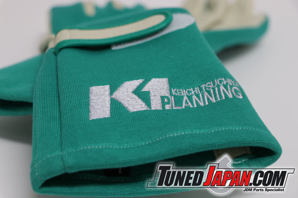 K1 PLANNING RACING GLOVES - LARGE GREEN