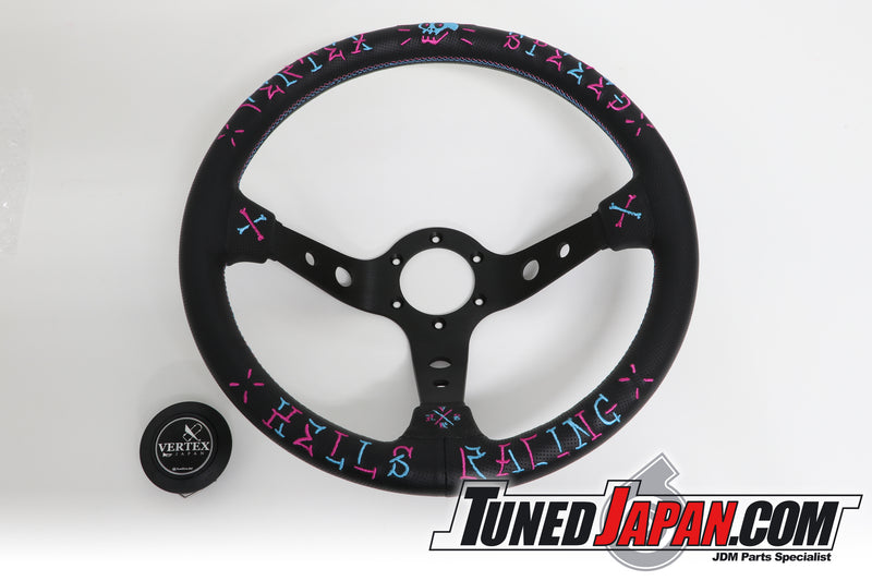 CAR MAKE T&E | VERTEX SPEED | HELLS RACING | STEERING WHEEL | LEATHER | BLUE・PINK