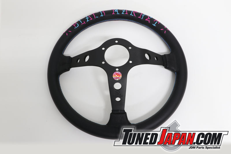 CAR MAKE T&E VERTEX SPEED | HELLS RACING- STEERING WHEEL | LEATHER | BLUE・PINK