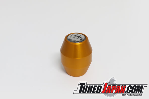 TOP SECRET SHIFT KNOB 6MT GOLD - M10 X 1.25 - Short