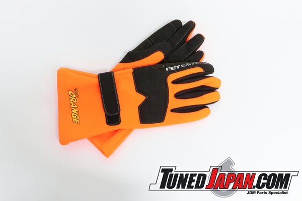TEAM ORANGE RACING GLOVES - ORANGE - XL
