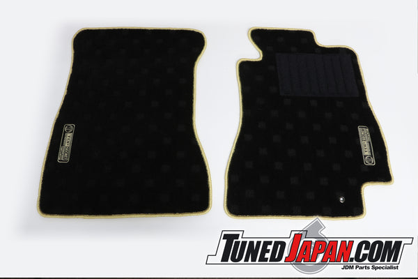 TOP SECRET FLOOR MAT SET FRONT GOLD STITCH - JZA80 SUPRA