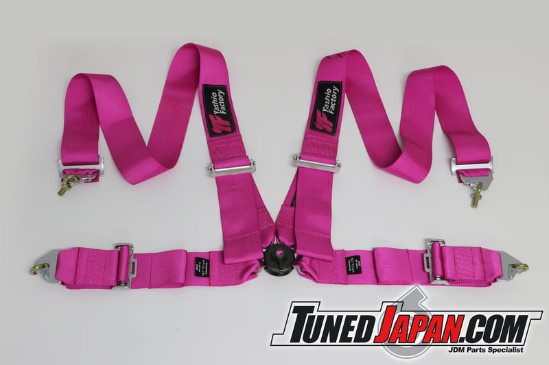 YASHIO FACTORY | 4-POINT SEAT BELT HARNESS | FIA APPROVED | PINK