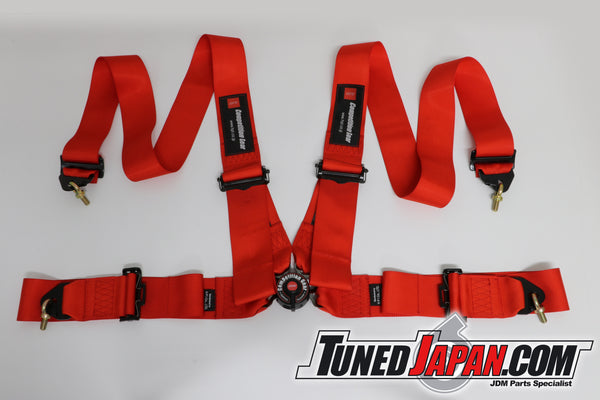 HPI 4 Point Seat Belt Harness - Red - Left