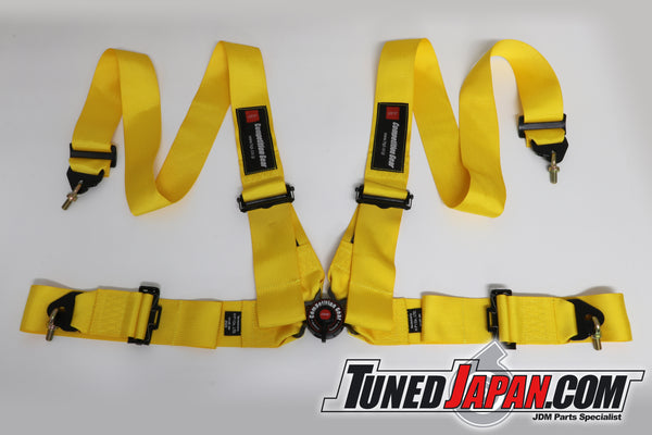 HPI 4 Point Seat Belt Harness - Yellow - Left