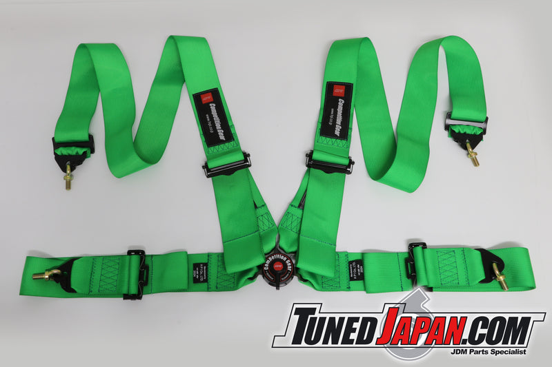 HPI 4 Point Seat Belt Harness - Green - Left