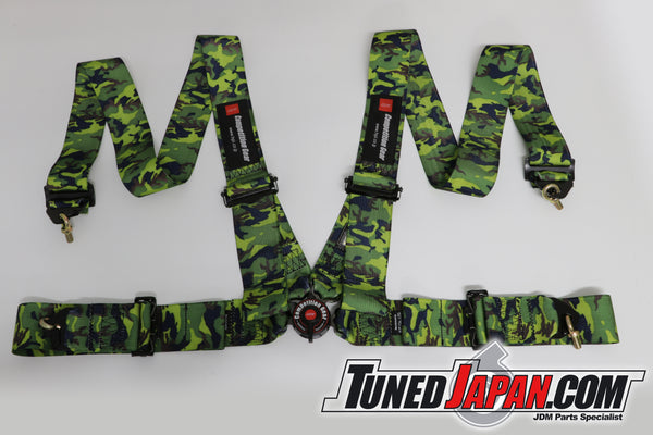 HPI 4 Point Seat Belt Harness - Camouflage - Right