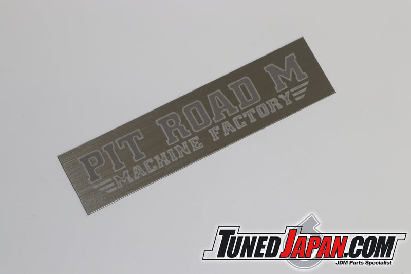 PIT ROAD M POLISH STAINLESS STEEL BADGE