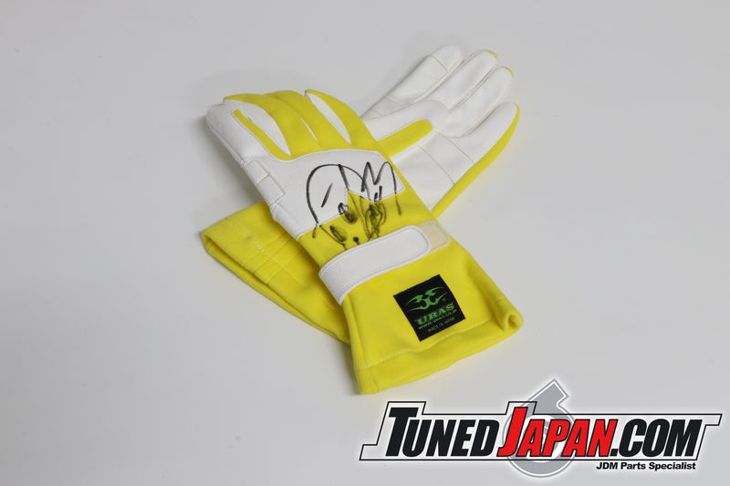 URAS RACING GLOVES - YELLOW - NEW TYPE - FREE SIZE