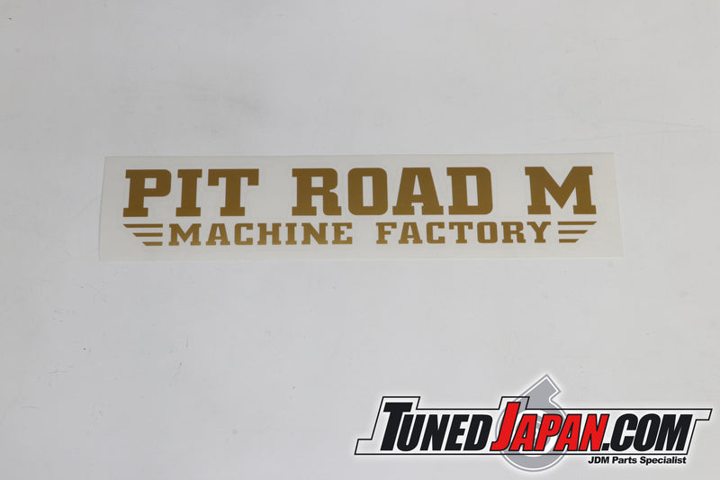 PIT ROAD M | STICKER | PIT ROAD M MACHINE FACTORY | GOLD | UNIVERSAL | 35cm×6cm