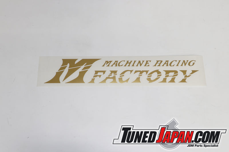 PIT ROAD M | STICKER | M MACHINE FACTORY RACING | GOLD | UNIVERSAL | 35cm×6cm