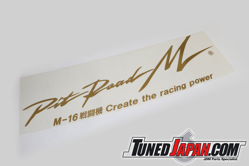PIT ROAD M | REAR WINDOW STICKER | CREATE THE POWER | GOLD | GTO Z15A Z16A | 100cm x 30cm