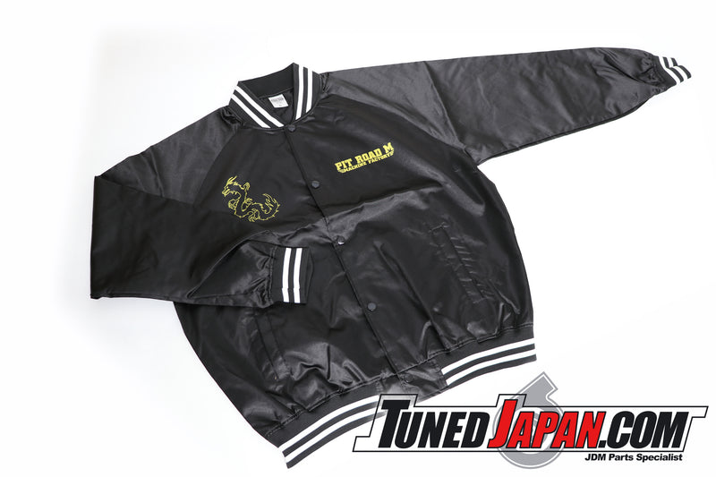 PIT ROAD M | ORIGINAL STADIUM JUMPER・WINDBREAKER | BLACK & GOLD | SIZE: XL