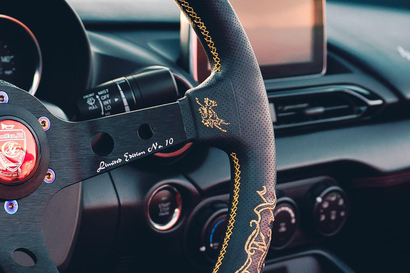 CAR MAKE T&E | VERTEX x TUNED JAPAN | STEERING WHEEL | LEATHER | GOLD
