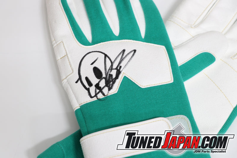 URAS | RACING GLOVES | GREEN | NEW TYPE | MEDIUM