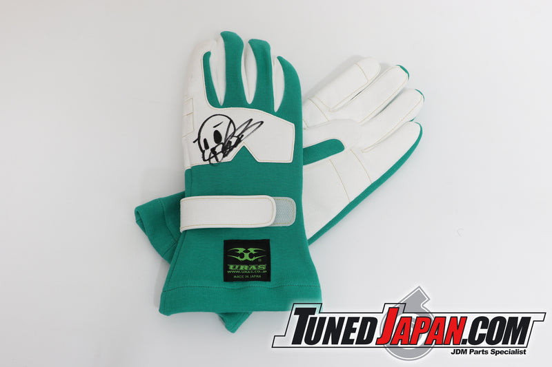 URAS | RACING GLOVES | GREEN | NEW TYPE | SMALL
