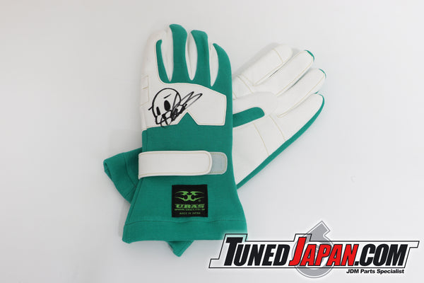 URAS RACING GLOVES - GREEN -NEW TYPE - FREE SIZE