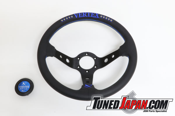 CAR MAKE T&E VERTEX SPEED - 10 STAR BLUE - STEERING WHEEL - LEATHER
