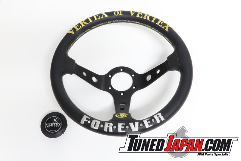 CAR MAKE T&E  - VERTEX FOREVER - STEERING WHEEL - LEATHER - GOLD