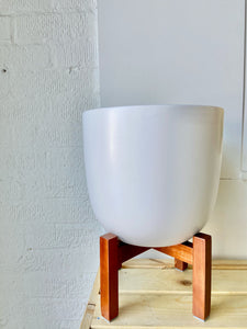 Contour Ceramic Planter with Stand