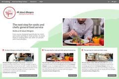 Image of food allergy training homepage