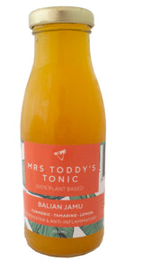 Mrs Toddy's Tonic Balian Jamu 250 mls x 12