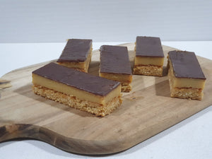 Wholesale gluten free chocolate caramel slice dessert treats for foodservice