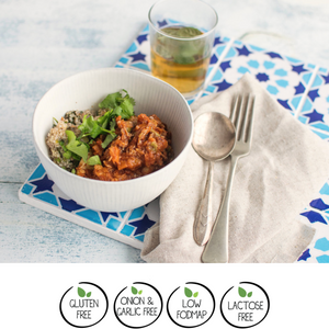 Moroccan Chicken w/ Quinoa, Green Olives, Tomato & Lemon 400g